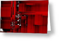 Red Construction I Greeting Card