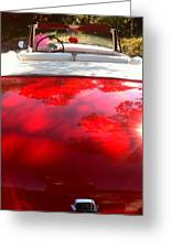 Red Convertible Greeting Card