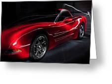 1997 Red Corvette Greeting Card