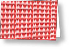 Red Cut Outs- Abstract Pattern Art Greeting Card