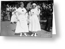 Red Cross Parade, 1918 Greeting Card