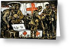Red Cross Poster, 1915 Greeting Card