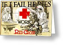 Red Cross Poster, C1918 Greeting Card