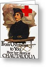 Red Cross Poster, C1919 Greeting Card