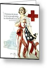 Red Cross World War 1 Poster  1918 Greeting Card by Daniel Hagerman