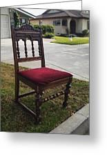 Red Cushion Chair Greeting Card