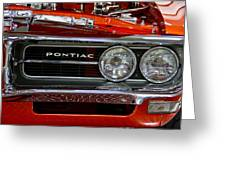 Red Customized Retro Pontiac-front Left Greeting Card