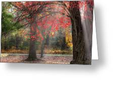 Red Dawn Square Greeting Card by Bill Wakeley