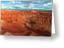 Red Desert Landscape Greeting Card