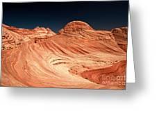 Red Desert Swirls Greeting Card