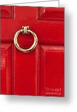 Red Door 02 Greeting Card