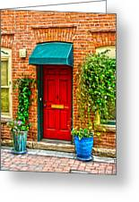 Red Door 2 Greeting Card by Baywest Imaging