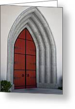 Red Door At Our Lady Of The Atonement Greeting Card