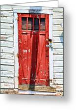 Red Door By Diana Sainz Greeting Card by Diana Sainz