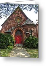 Red Door Church Greeting Card