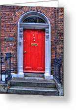 Red Door Dublin Ireland Greeting Card