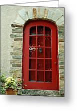 Red Door In Baltimore Greeting Card