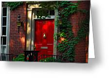 Red Door In Chicago Greeting Card