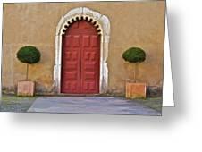 Red Door Of Caldas De Rainha Greeting Card