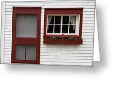 Red Door Red Window Greeting Card