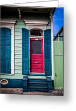 Red Doored House Greeting Card