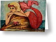 Red Dust Mermaid Greeting Card