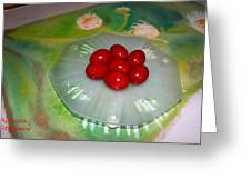 Red Eggs And Daisies Greeting Card