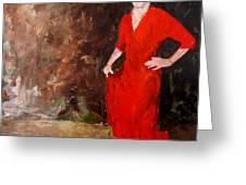 Red Ellegance Greeting Card