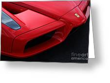 Red Enzo Greeting Card