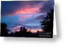 Red Evening Arizona Sky Greeting Card
