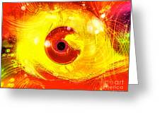 Red Eye Greeting Card