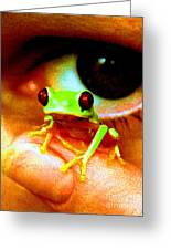 Red Eyed Australian Tree Frog  Greeting Card