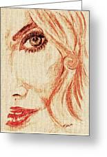 Red Eyes.  Greeting Card