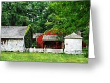 Red Farm Shed Greeting Card
