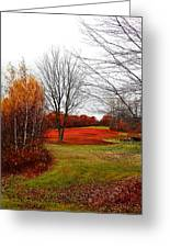 Red Field Autumn Greeting Card