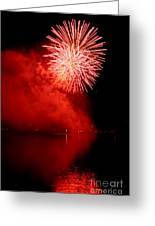 Red Fire Greeting Card