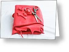 Red Fleece Greeting Card
