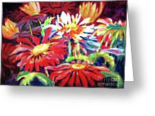 Red Floral Mishmash Greeting Card