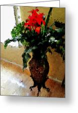 Red Flower Stance Greeting Card