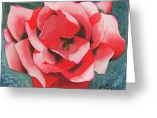 Red Flower Two Greeting Card