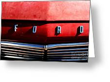 Red Ford 1 Greeting Card