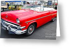 Red Ford Convertible Greeting Card