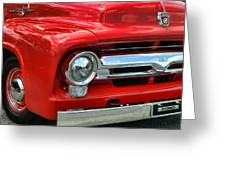 Red Ford Truck Greeting Card