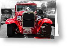 Red Ford Ute Greeting Card