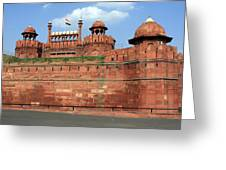 Red Fort New Delhi India Greeting Card