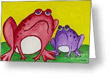 Red Frog Greeting Card