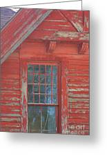 Red Gable Window Greeting Card