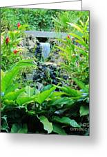 Red Ginger Falls Greeting Card