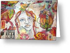 Red Girl 27 Greeting Card