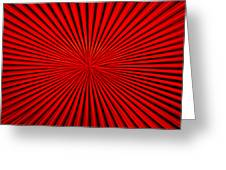 Red Glass Abstract 1 Greeting Card